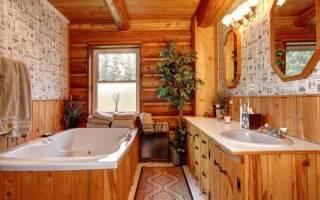 Чем обшить ванную комнату в деревянном доме?