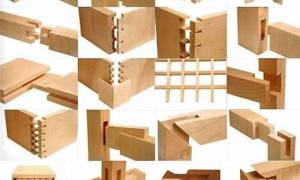 Виды соединения брусков из древесины