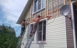 Как обшить кирпичный дом сайдингом
