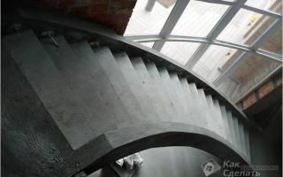 Как сделать монолитную лестницу