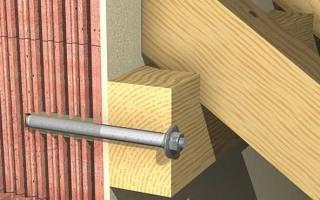Чем крепить брус к бетону?