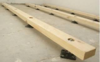 Как правильно положить лаги на бетонный пол?
