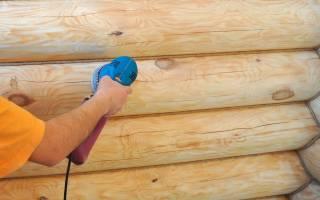 Как шлифовать брус внутри дома?