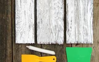 Как покрасить доску под старину?