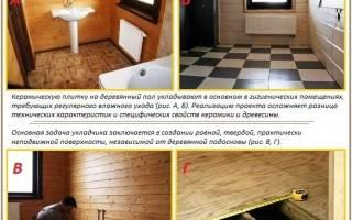 Как положить кафельную плитку на деревянный пол?