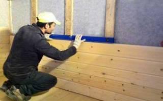 Как обшивать имитацией бруса стены внутри дома?