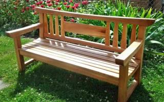 Простая скамейка своими руками из досок