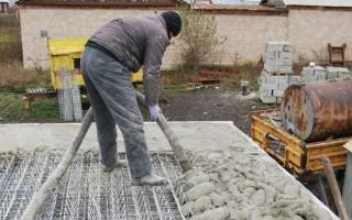 Сколько времени застывает бетон