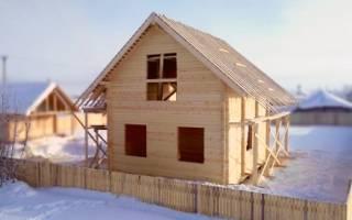 Что значит дом под усадку из бруса?