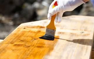 Обработка древесины олифой