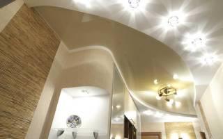 Как установить точечные светильники в натяжной потолок?