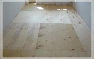 Как класть фанеру на деревянный пол?