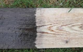 Чем отбелить древесину от черноты?