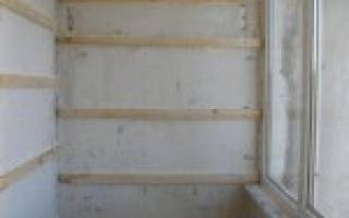 Каркас под вагонку на стене