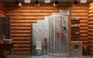 Как оборудовать душевую в деревянном доме?