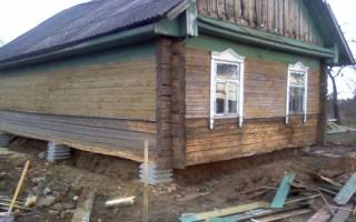 Как поднять старый деревянный дом