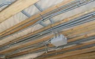Как провести проводку по потолку