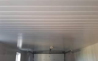 Как сделать потолок в гараже