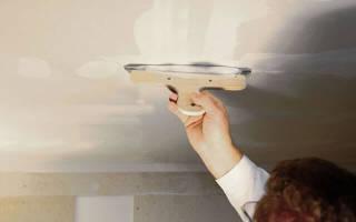 Как ровно зашпаклевать потолок