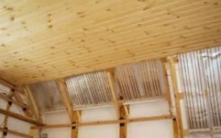 Как установить вагонку на потолок?