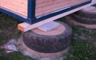 Как сделать фундамент из покрышек