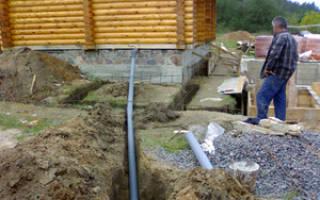 Как проложить канализационные трубы в частном доме?