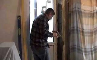 Как выровнять дверной проем в панельном доме?