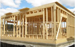 Как сделать потолок в каркасном доме?