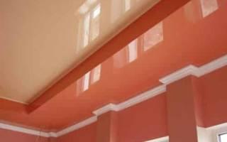 Как поставить плинтус на натяжной потолок?