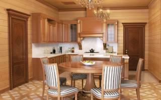 Отделка кухни вагонкой в частном доме