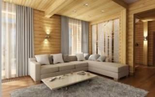 Варианты внутренней отделки дома из бруса