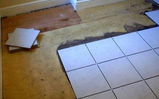 Как положить плитку на фанерный пол?
