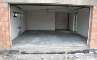Как залить пол в гараже бетоном своими