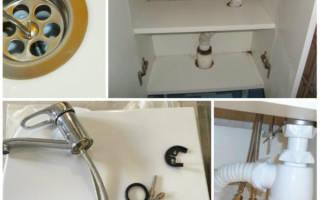Как установить раковину в ванной на тумбу