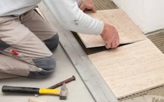 Как долго сохнет плитка на полу?