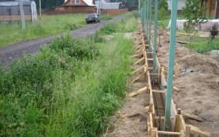 Как правильно залить фундамент под забор