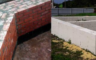 Цоколь из кирпича или бетона что лучше?