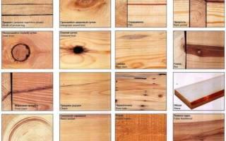 Виды сучков древесины