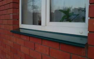 Как делать отливы на окна?
