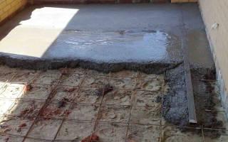 Как залить полы в доме на землю