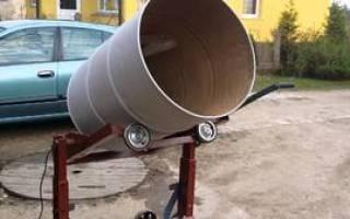 Как из бочки сделать бетономешалку