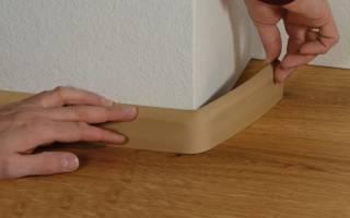 Как правильно ставить плинтуса на пол?