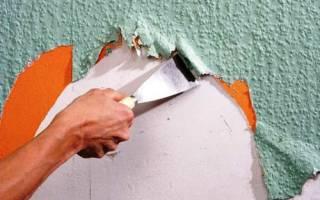 Как удалить моющиеся обои со стены?