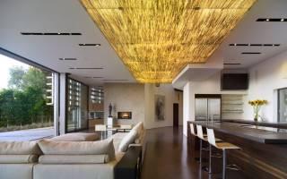 Как сделать потолок в бревенчатом доме?