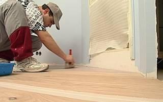 Как прибить линолеум к деревянному полу?