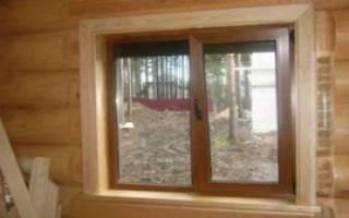 Как ставить пластиковые окна в деревянном доме?