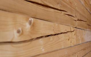 Чем заделать трещины в брусе внутри дома?