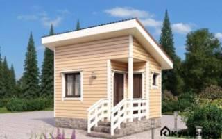 Небольшие дачные дома из бруса