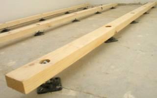 Как постелить лаги на бетонный пол?