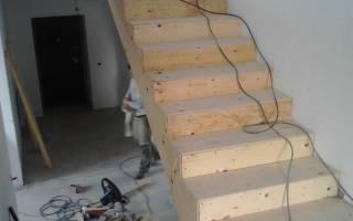 Как отделать бетонную лестницу деревом